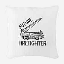 FUTURE-FIREFIGHTER.png Woven Throw Pillow