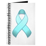 Light Blue Awareness Ribbon Journal
