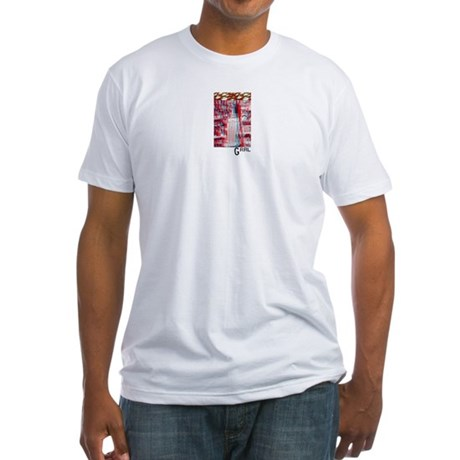 UFOs vs. NYC 3D Fitted T-shirt