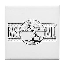 Retro Basketball Tile Coaster