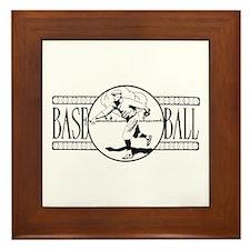 Retro Basketball Framed Tile