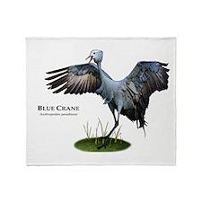 Blue Crane Throw Blanket
