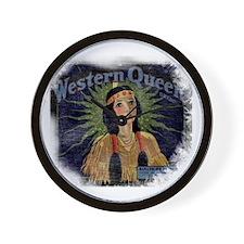 Western Queen Wall Clock