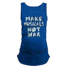 MAKE-MUSICALS-NOT-WAR2.png Maternity Tank Top