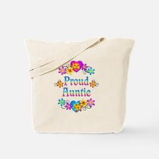 Proud Auntie Flowers Tote Bag
