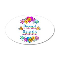 Proud Auntie Flowers Wall Decal
