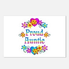 Proud Auntie Flowers Postcards (Package of 8)
