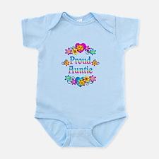Proud Auntie Flowers Infant Bodysuit