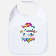 Proud Auntie Flowers Bib