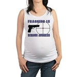 Serious Fragging Maternity Tank Top