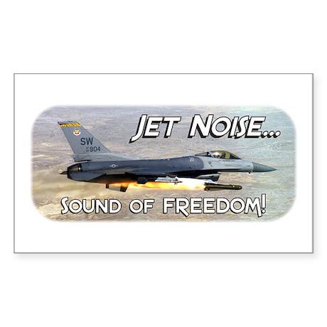 Jet Noise, Sound of Freedom Rectangle Sticker