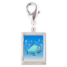 Grumpy Fish Cartoon Charms