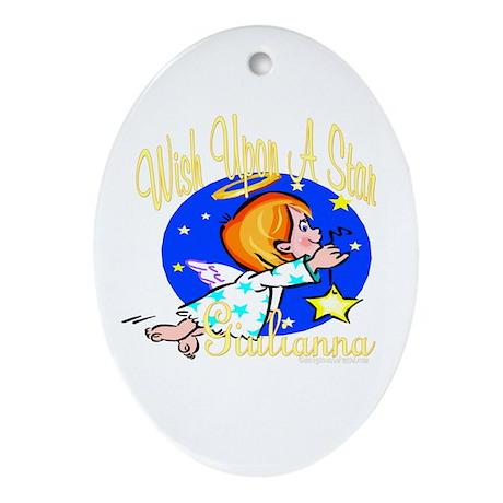 Giulianna Wish Oval Ornament
