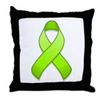 Lime Awareness Ribbon Throw Pillow
