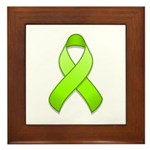 Lime Awareness Ribbon Framed Tile