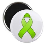"Lime Awareness Ribbon 2.25"" Magnet (100 pack)"
