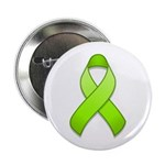 "Lime Awareness Ribbon 2.25"" Button (100 pack)"