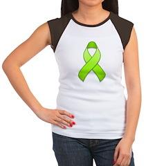 Lime Awareness Ribbon Women's Cap Sleeve T-Shirt