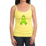 Lime Awareness Ribbon Jr. Spaghetti Tank