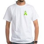 Lime Awareness Ribbon White T-Shirt