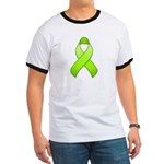 Lime Awareness Ribbon Ringer T