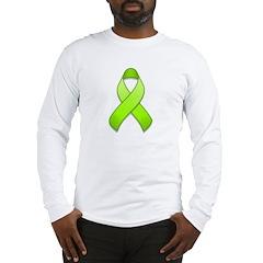 Lime Awareness Ribbon Long Sleeve T-Shirt