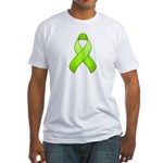 Lime Awareness Ribbon Fitted T-Shirt