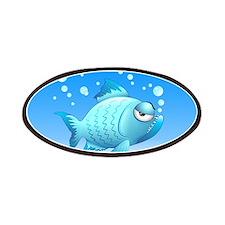 Grumpy Fish Cartoon Patches