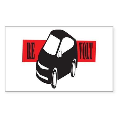 Join the Hybrid Re-Volt! Rectangle Sticker
