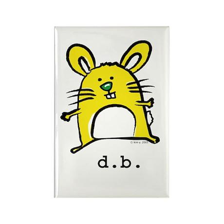 Dumb Bunny Rectangle Magnet