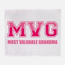 Most Valuable Grandma Throw Blanket