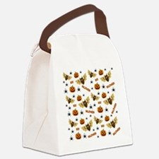 Cute Halloween pumpkin Canvas Lunch Bag