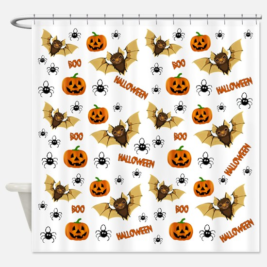 Unique Pumpkin Shower Curtain