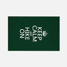 Keep Calm and Hike On Rectangle Magnet