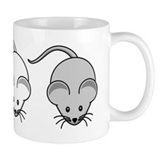 Black White & Grey Mouse Trio Small Mug