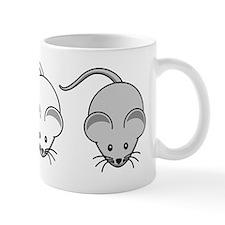 Black White & Grey Mouse Trio Small Mugs