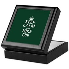 Keep Calm and Hike On Keepsake Box