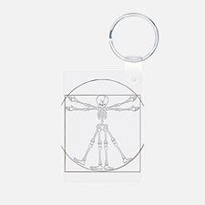Vitruvian Man Skeleton Cartoon Keychains