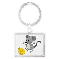 Mouse Jumping for Joy with Chee Landscape Keychain