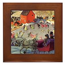 Vintage Winter Romance Framed Tile