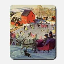 Vintage Winter Romance Mousepad