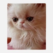 Baby Persian Kitten Throw Blanket