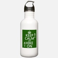 Keep Calm and Hike On Sports Water Bottle