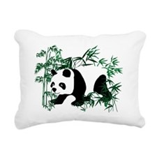 Panda in the Bamboo Fore Rectangular Canvas Pillow