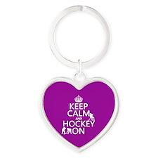 Keep Calm and Hockey On Keychains