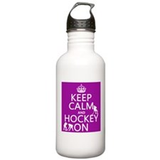 Keep Calm and Hockey On Sports Water Bottle