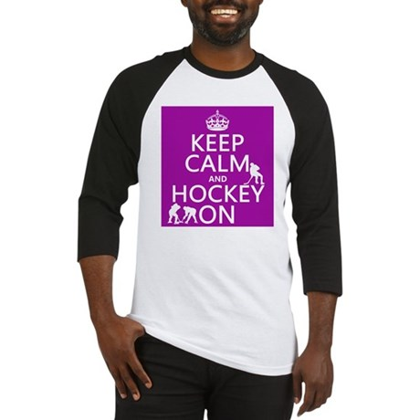 Keep Calm and Hockey On Baseball Jersey