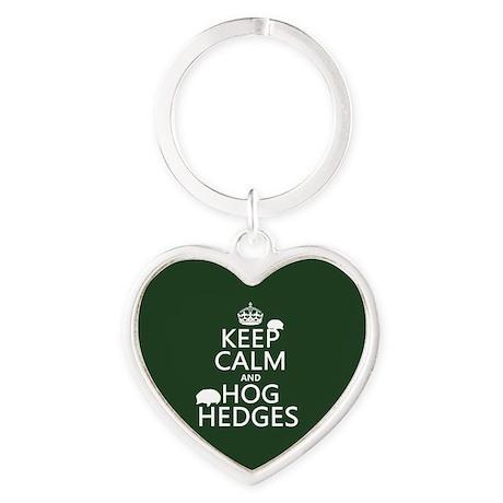 Keep Calm and Hog Hedges (hedgehogs) Keychains