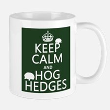 Keep Calm and Hog Hedges (hedgehogs) Small Mug