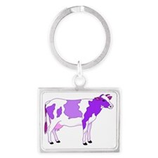 Did You Ever See a Pastel Purpl Landscape Keychain